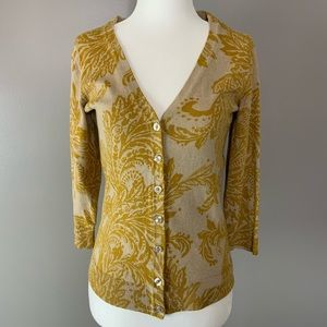 The Limited tan and mustard cardigan